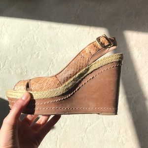 Tan Vince Canute Wedges